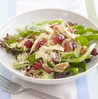 chicken with grapes salad photo