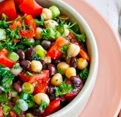 middle eastern bean salad photo