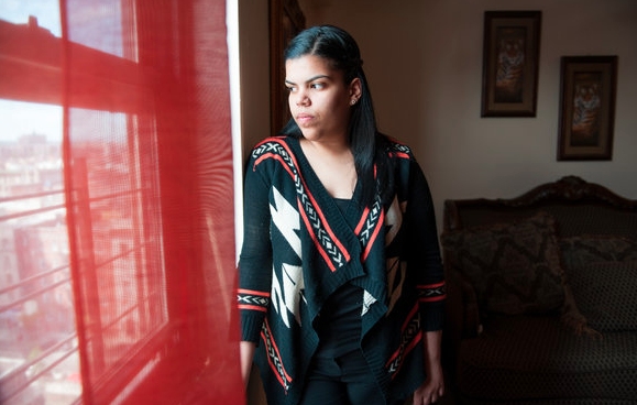 Yubelkis Matias, 19, a student at Bronx Community College, lives with fatty liver disease. Credit Nancy Borowick/The New York Times