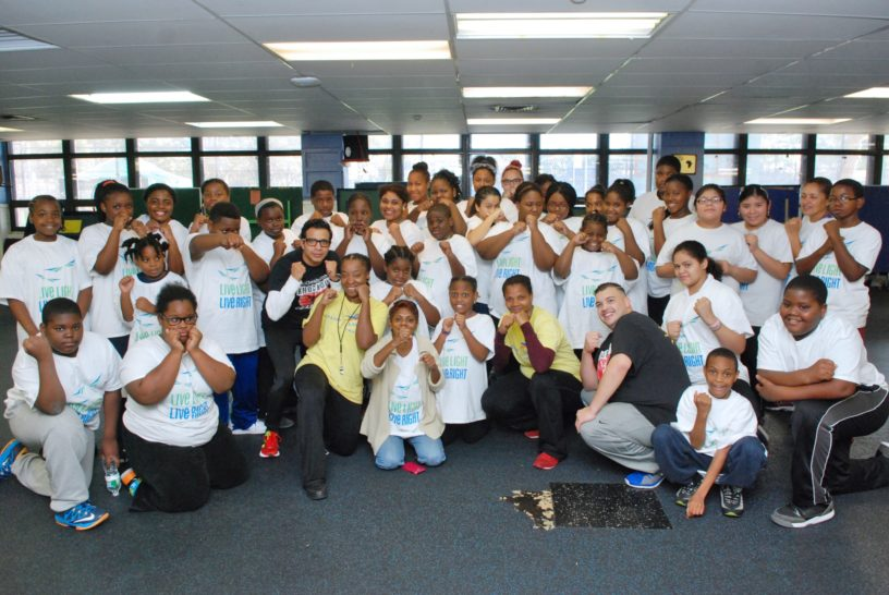 Youth from the Live Light Live Right program participated in a Knockout Obesity demonstration at Brownsville Recreation Center. Now, the two non-profits have set in motion a year-long health initiative to start March 3, 2015.